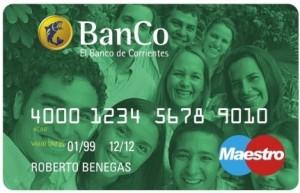 Tarjeta Joven del Banco de Corrientes